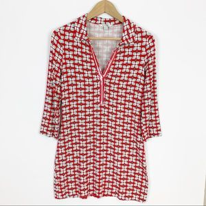 Boden Sequin Embellished Printed Tunic